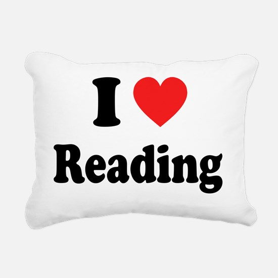 i heart reading Rectangular Canvas Pillow