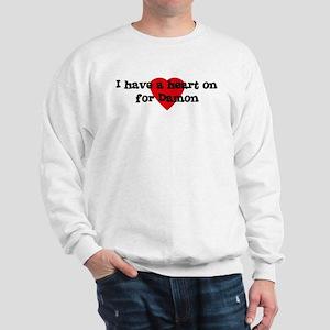 Heart on for Damon Sweatshirt