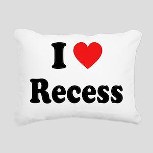 i heart recess Rectangular Canvas Pillow