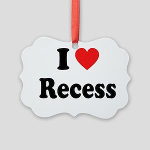 i heart recess Picture Ornament