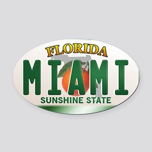 plate-miami Oval Car Magnet