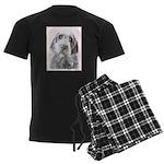 Wirehaired Pointing Griffon Men's Dark Pajamas
