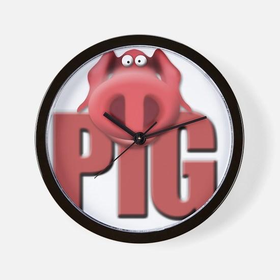 pig-2 Wall Clock
