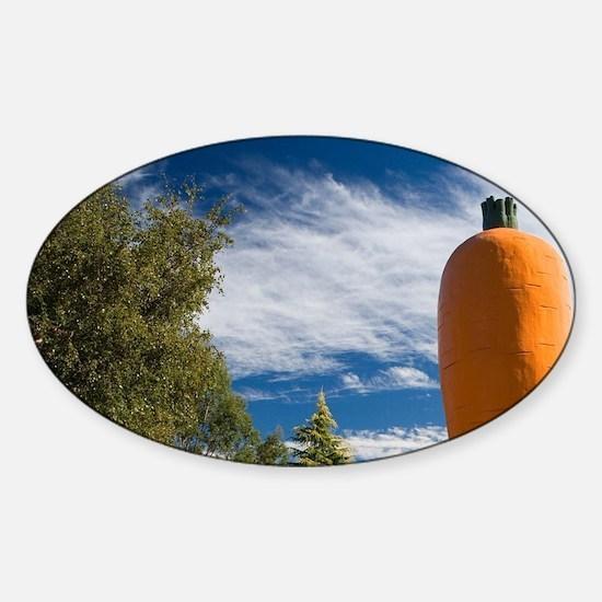Giant Carrot Statue, Ohakune, Centr Sticker (Oval)