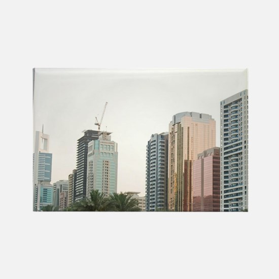 Buildings in E11 or Sheikh Zayed  Rectangle Magnet