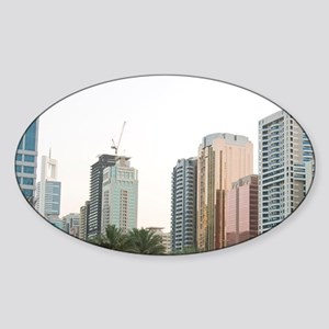 Buildings in E11 or Sheikh Zayed Ro Sticker (Oval)