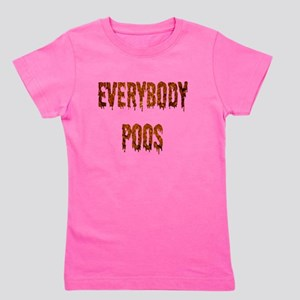 Everybody poos buttons Girl's Tee