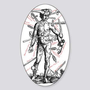 Light-Wound-Man_Labeled Sticker (Oval)