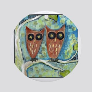 two_owls Round Ornament