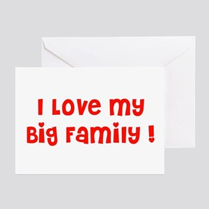 I love My big family Red Greeting Cards