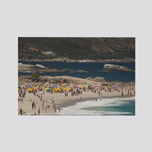 Camps Bay. Popular white sand bea Rectangle Magnet