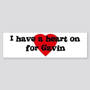 Heart on for Gavin Bumper Sticker