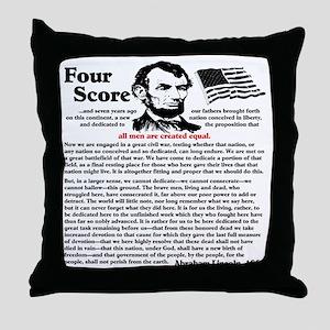 fourscorecleartemplate4 Throw Pillow