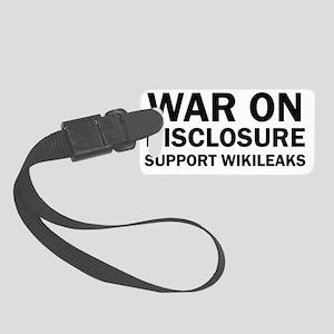Wikileaks war Small Luggage Tag