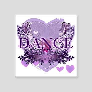 """dance forever purple heart  Square Sticker 3"""" x 3"""""""