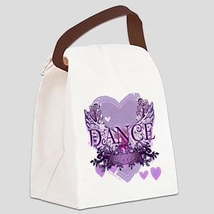 dance forever purple heart copy Canvas Lunch Bag