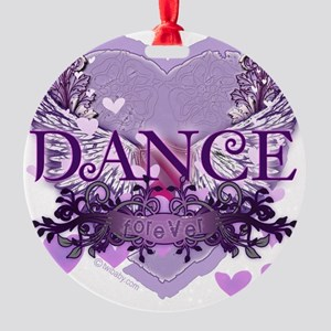 dance forever purple heart copy Round Ornament