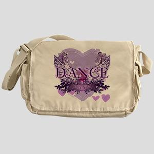 dance forever purple heart copy Messenger Bag