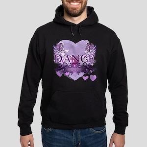 dance forever purple heart copy Hoodie (dark)