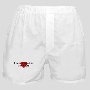 Heart on for Kaleb Boxer Shorts
