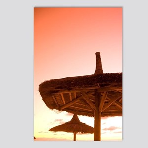 Palapa style beach huts a Postcards (Package of 8)