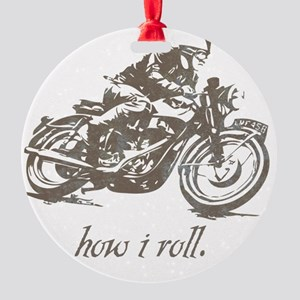 cafe how i roll Round Ornament