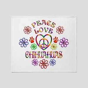 Peace Love Chihuahuas Throw Blanket