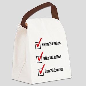 Triathlon-Long-Course Canvas Lunch Bag