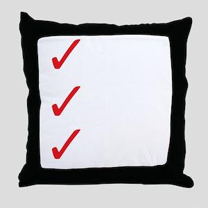 Triathlon-Short-Course-white Throw Pillow