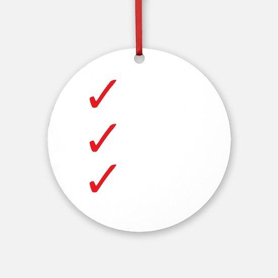 Triathlon-Short-Course-white Round Ornament