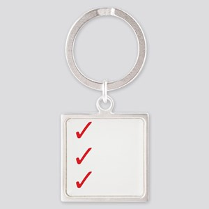 Triathlon-Short-Course-white Square Keychain