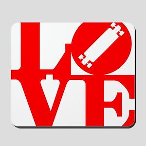 love_longboard_rojo Mousepad