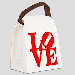 love_longboard_rojo Canvas Lunch Bag