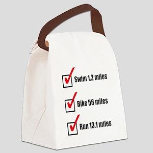 Triathlon-Short-Course Canvas Lunch Bag