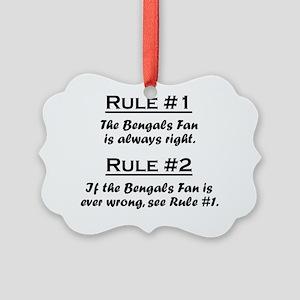 Rule Bengals Fan Picture Ornament