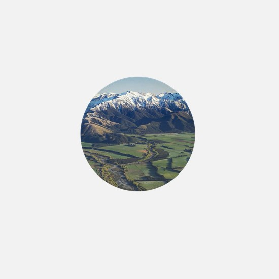 Canterbury Plains and Southern Alps, n Mini Button