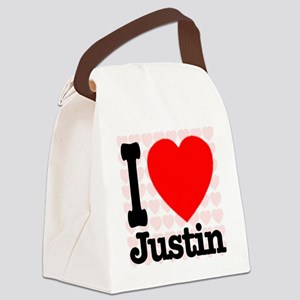 iheart_Justin Canvas Lunch Bag