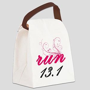 run13_pink2_sticker Canvas Lunch Bag