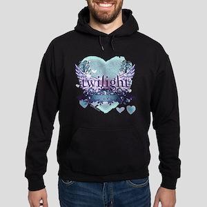 twilight forever aqua heart copy Hoodie (dark)