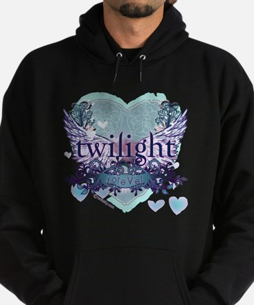 twilight forever aqua heart copy Hoodie (dark)