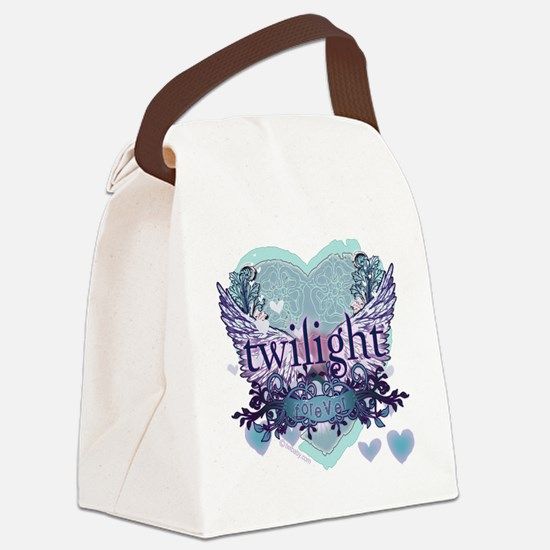 twilight forever aqua heart copy Canvas Lunch Bag