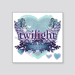 "twilight forever aqua heart Square Sticker 3"" x 3"""