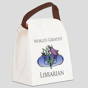 FloralFabulous_Librarian Canvas Lunch Bag