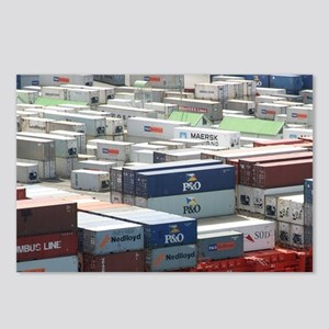 Container Ship, Port Chal Postcards (Package of 8)