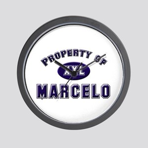 Property of marcelo Wall Clock