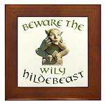 Hildebeast anti-Hillary Framed Tile