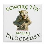 Hildebeast anti-Hillary Tile Coaster