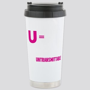 U=U Undetectable = Untransmittable Mugs