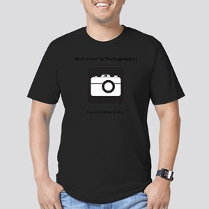 PhotoBroke Black Men's Fitted T-Shirt (dark)