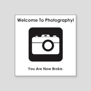 """PhotoBroke Black Square Sticker 3"""" x 3"""""""